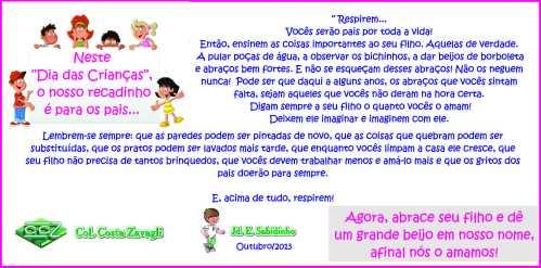 CARTÃO FINAL Dia das crianças 2013